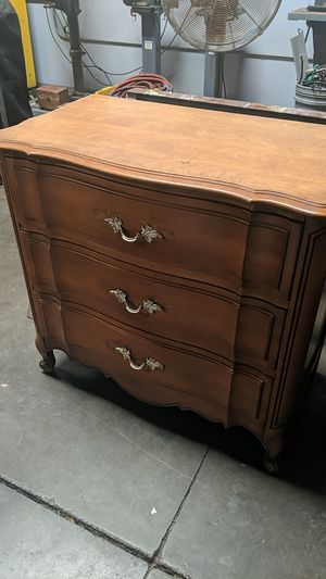 Solid wood dresser drawers antique oak for Sale in Huntington Beach, CA