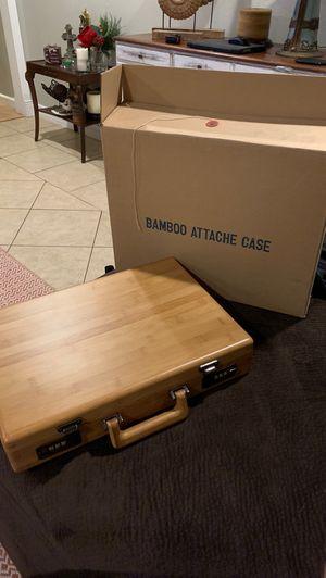 Bamboo attache case for Sale in Baldwin Park, CA