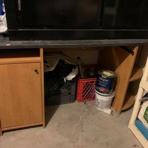 Desk With Cabinet And Shelf for Sale in Everett, WA