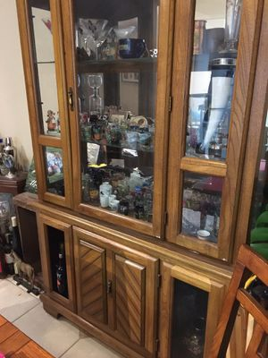 Used hutch with storage cabinet below for Sale in Vista, CA