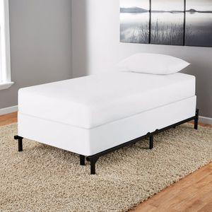 """Mainstays 7"""" Adjustable Bed Frame, Black Steel for Sale in Lansdowne, VA"""