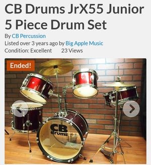 Drums 5 Piece set white for Sale in Modesto, CA