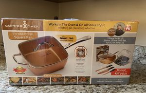 Copper Chef 9 1/2 Deep Dish Square Pan Set for Sale in Colonial Heights, VA