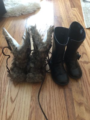 Toddler girls boots - 2 pairs for Sale in Spokane, WA