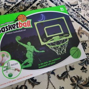 Brand New Indoor Basketball Wall Mount Hoop with Ball Glow in the dark for Sale in Fremont, CA