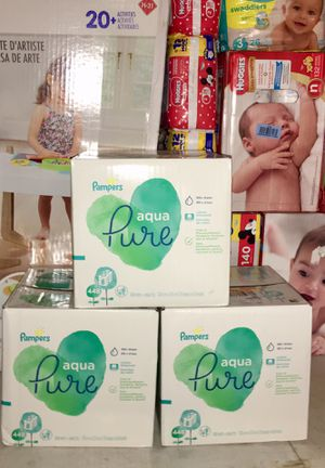 Pampers Aqua Pure wipes 448 count for Sale in Canyon Country, CA