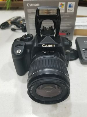 Title Canon Digital Rebel XT DSLR Camera with EF-S 18-55mm f/3.5-5.6 Lens for Sale in Beaumont, CA
