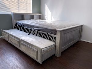 Full bed & twin trundle + 2 mattresses for Sale in South Gate, CA