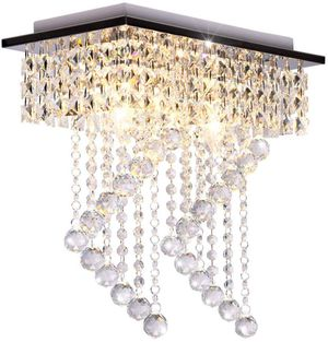"""2-Light Crystal Chandelier (Length:15"""" Width:7.87"""" Height:15.3"""",Silver) for Sale in Henderson, NV"""