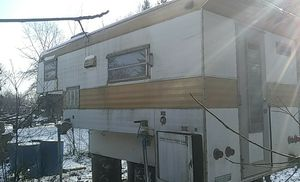 8ft truck camper everything works water sewer heat fridge ect for Sale in Elkhart, IN