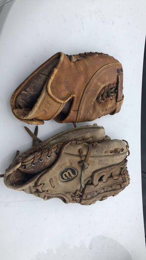 Old baseball gloves for Sale in Brockton, MA