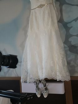 Wedding Dress, David's Bridal, Size 18, White for Sale in Loganville,  GA