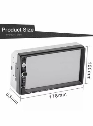 Double Din Car Stereo in-Dash BT Touch Screen 7 inch Support Backup Rear View Camera (not included) Video MP5/4/3 Player, Radio FM, Car Stereo Receiv for Sale in Los Angeles, CA