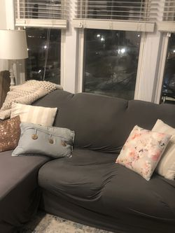 Pull Out Sleeper Chaise Couch & Cover for Sale in Chicago,  IL
