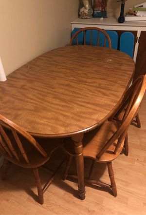 Dining table with 4 chairs for Sale in North Newton, KS