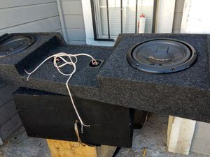 """10 """" pioneers subs with amp 1600W for Truck for Sale in Las Vegas, NV"""