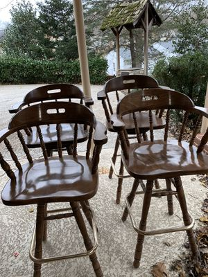 Four wooden bar stools for Sale in Vienna, VA