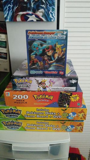 Pokemon board games and puzzles for Sale in Homestead, FL
