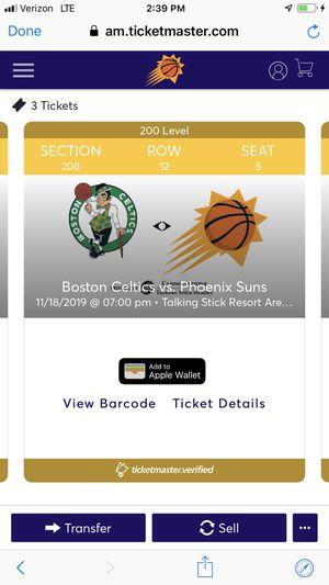 Phoenix Suns Vs Boston Celtics Tonight 7pm $100 for Sale in Phoenix, AZ