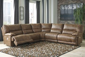 Power Reclining Sectional with Power Headrest for Sale in Glendale, AZ