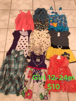 Baby girl clothes 12-24m FIRM PRICE NO DELIVERY CASH OR TRADE FOR BABY FORMULA for Sale in Los Angeles, CA
