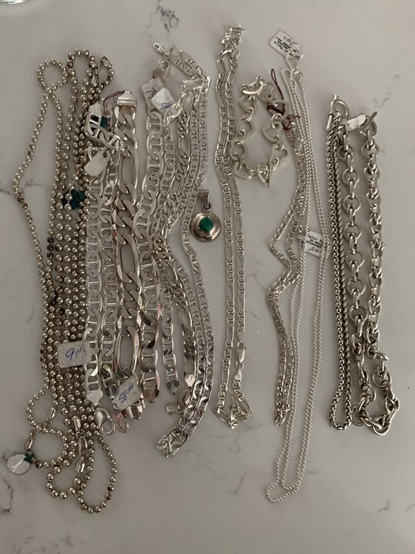Silver bracelets and chains for sale all new