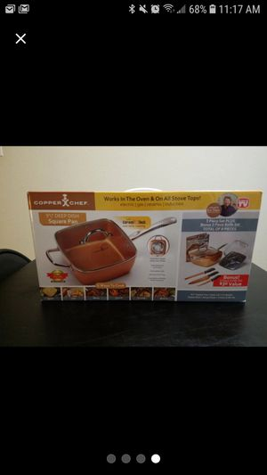 """Copper Chef 9 1/2"""" Deep Dish Square Pan for Sale in Houston, TX"""