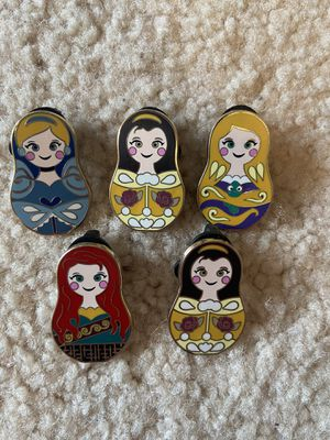 Disney nesting dolls pins for Sale in Federal Way, WA