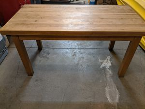 Solid maple butcher block top table for Sale in Vancouver, WA