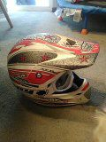 Fullmer dirt bike helmet with spy goggles for Sale in Riverton, UT