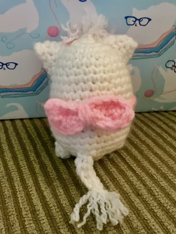 Handmade Marie Aristocats plushie! (Up for trade)