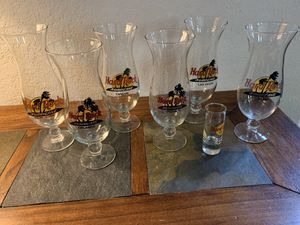 (6) Hard Rock Cafe Hurricane Glasses for Sale in Helotes, TX