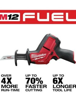 New Milwaukee M12 FUEL 12-Volt Lithium-Ion Brushless Cordless HACKZALL Reciprocating Saw (Tool-Only) for Sale in Downey,  CA