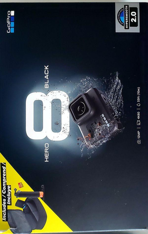 Gopro 8 black great camera open box.