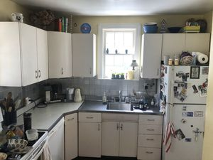 Vintage full kitchen metal cabinets with original stainless sink and drain board for Sale in Alexandria, VA