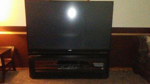 Mitsubishi 87 in. 3D T.V and stand for Sale in Akron, OH