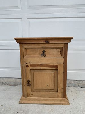 Mexican pine wood nightstand for Sale in Boca Raton, FL