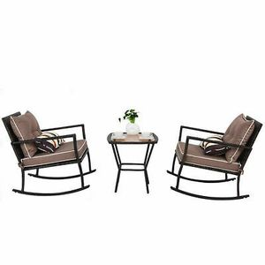 3Pc Rattan Wicker Rocking Furniture Set Perfect for Home Garden Patio Outdoor Decor for Sale in Phoenix, AZ