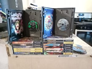 Whole lot Gamecube games mario party 5 luigis mansion pokemon xd zelda four swords advendture sonic battle 2 and more for Sale in San Antonio, TX