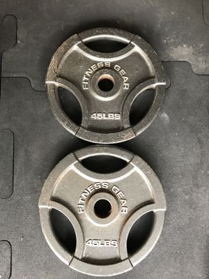 Olympic weights (2x45s) for $50 Firm!!! for Sale in Burbank, CA