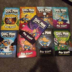 9 BRAND new Dog Man Series for Sale in Mount Olive Township, NJ