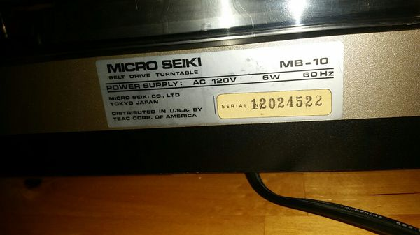 Micro Seiki MB-10 turntable for Sale in Bellingham, WA - OfferUp