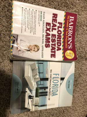 Barron's Fl Real Estate Exam Prep & Dearborn Fl Real Estate Book for Sale in Jacksonville, FL