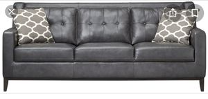 Grey leather couch and chair! for Sale in Grand Rapids, MI