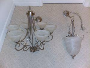 Foyer, Dining Room and Stairwell Chandeliers in Nickel for Sale in Leesburg, VA