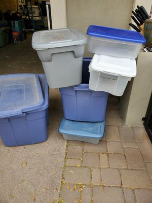 Storage containers- assorted. For pick up in S Scottsdale for Sale in Scottsdale, AZ