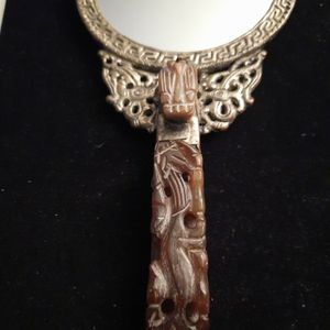 Vintage Asian Hand Mirror with Jade Handle for Sale in Washington, DC