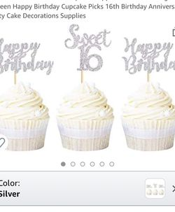 Sweet 16 Cupcake Toppers for Sale in Granite City,  IL