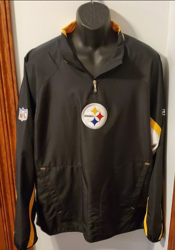 NFL Apparel Pittsburgh Steelers Mens Large Windbreaker Perfect Condition