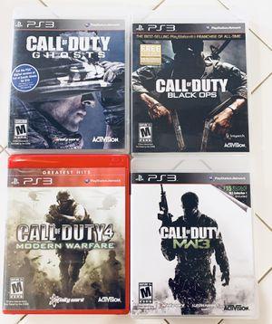 PS3 Games Call Of Duty: Black Ops, Ghost, Modern Warfare, Modern Warfare 3 for Sale in Oregon City, OR